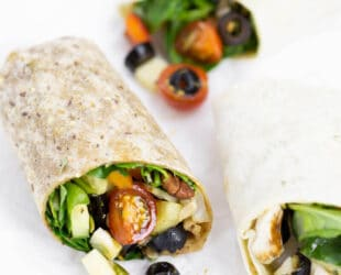 Mediterranean Wraps with Olives from Spain - Healthy Recipe