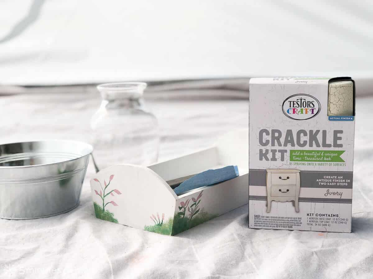 DIY centerpieces with Testors Crackle Kit