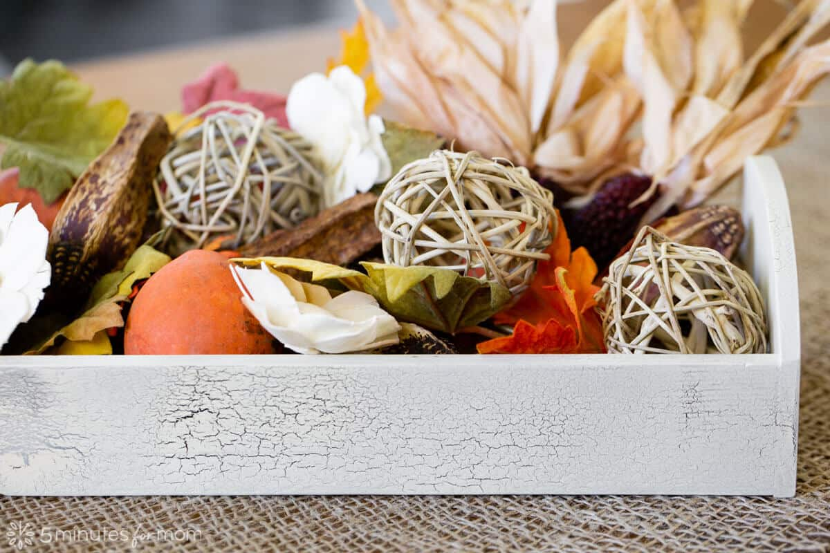 DIY Thanksgiving centerpieces with Testors Crackle Kit
