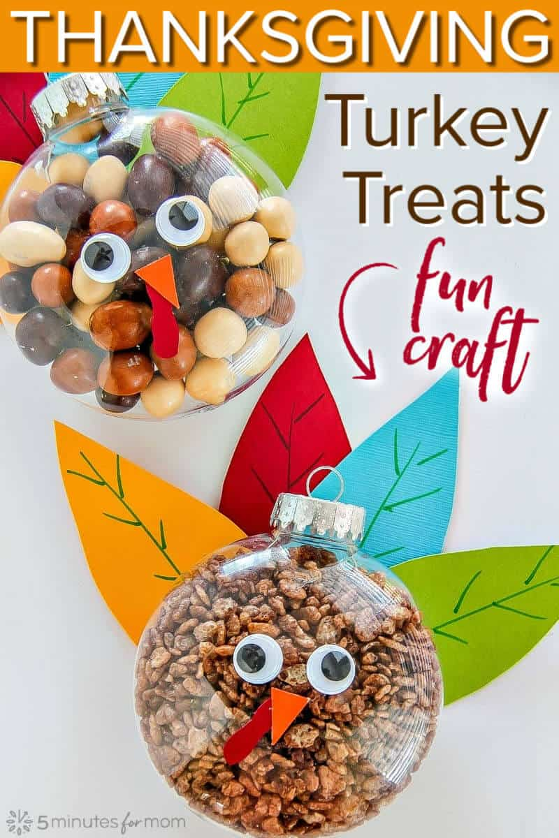 Thanksgiving Turkey Treats - Easy Fall Craft