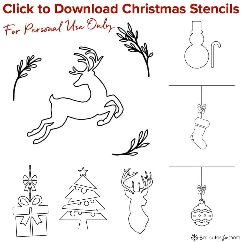 Christmas Stencils For Fabric Spray Painting DIY Cover Pillows