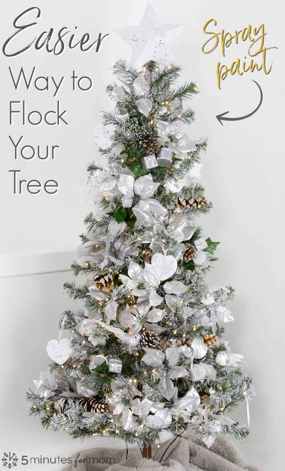 Easier Way to Flock A Christmas Tree Using Spray Paint