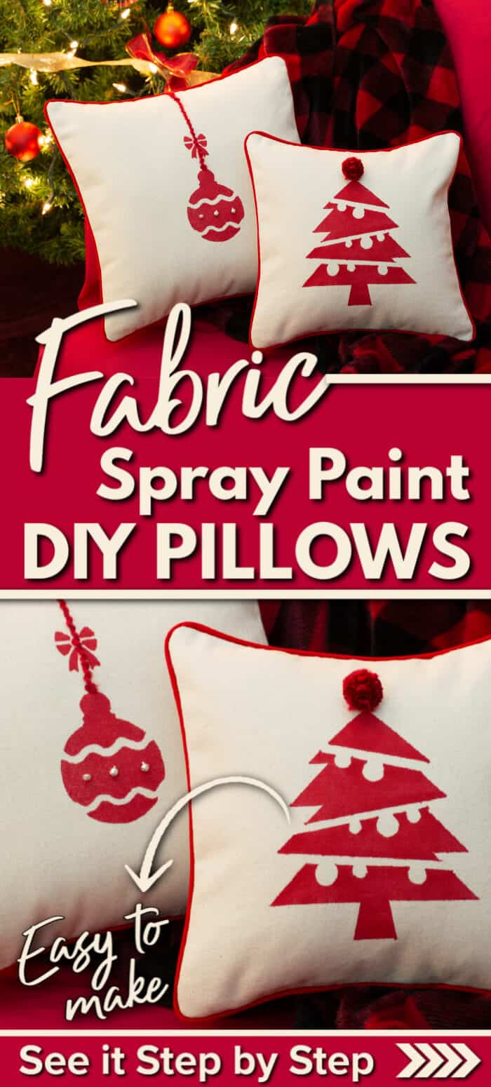 Fabric Spray Paint Pillows - DIY fabric painting ideas - decorating with throw pillows #diypillows #fabricpaint