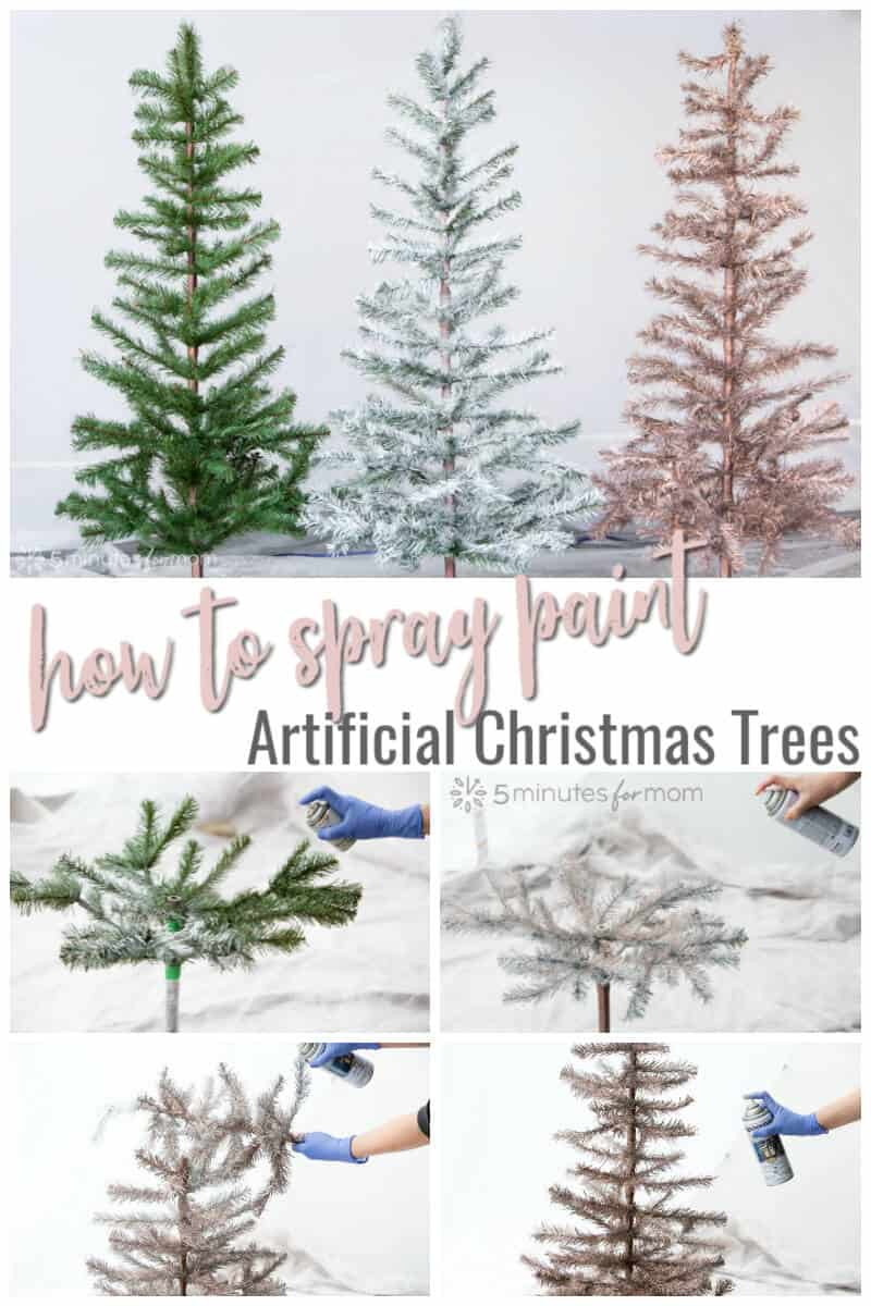 How to Spray Paint Artificial Christmas Trees