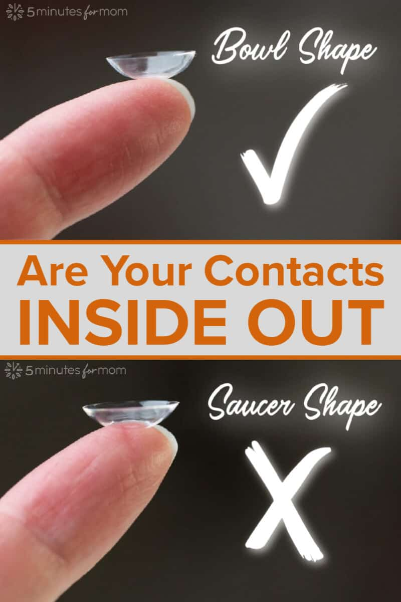 How to tell if your contacts are inside out