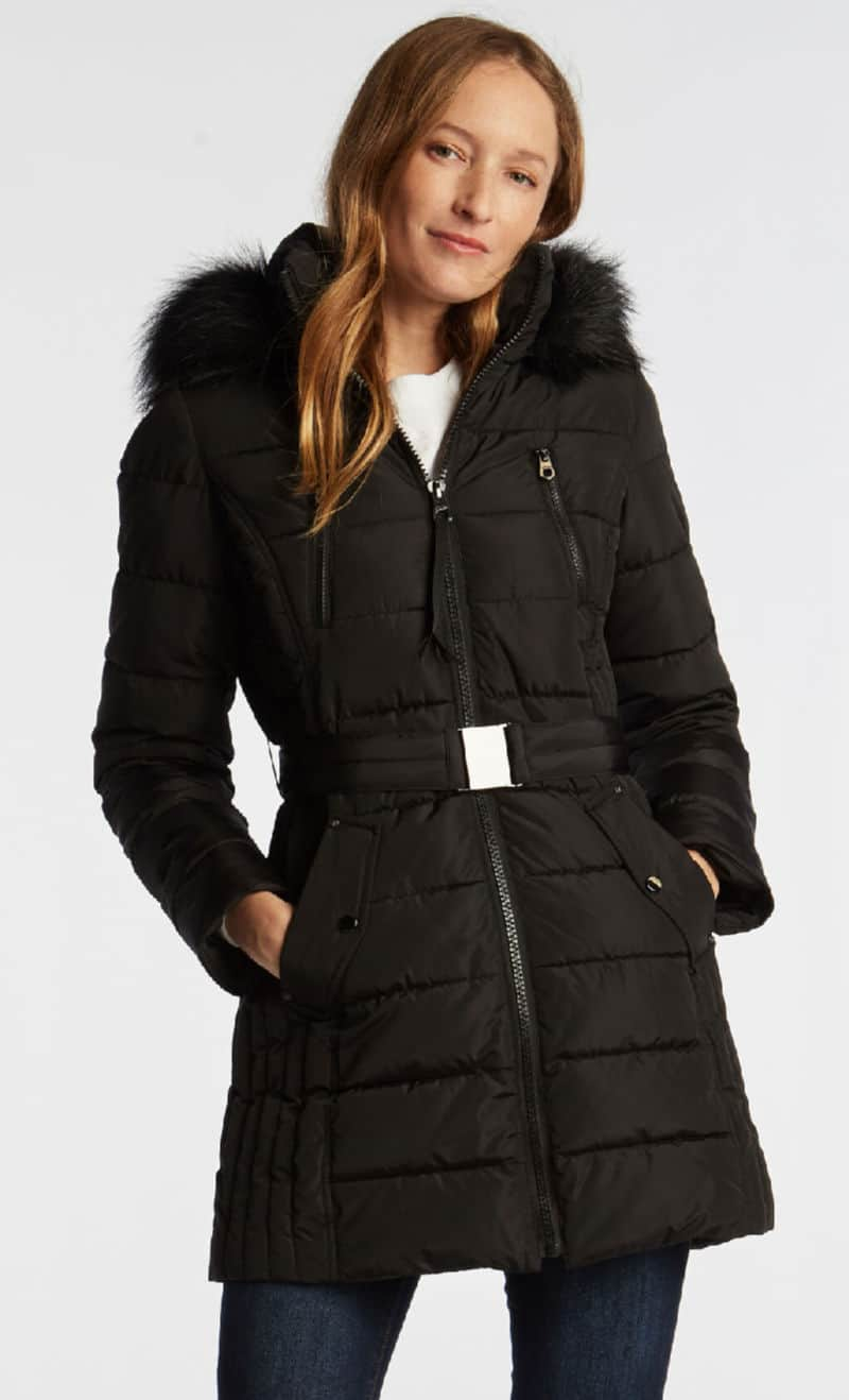 Nautica Womens Black Coat