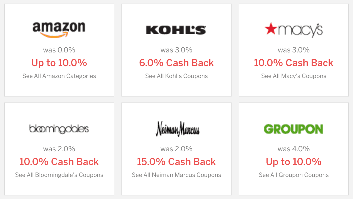 Rakuten Cash Back Amounts
