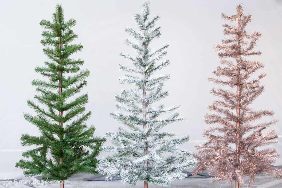 Spray Paint Christmas Tree