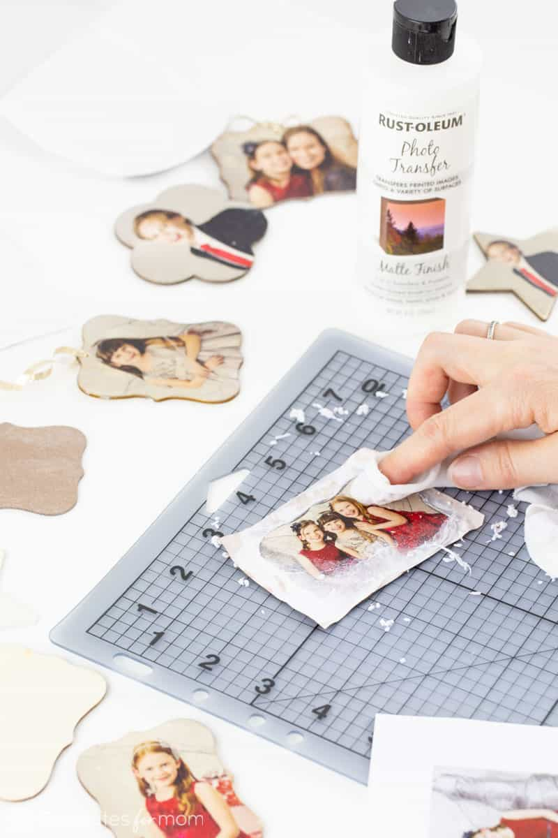 how to make photo transfer ornaments
