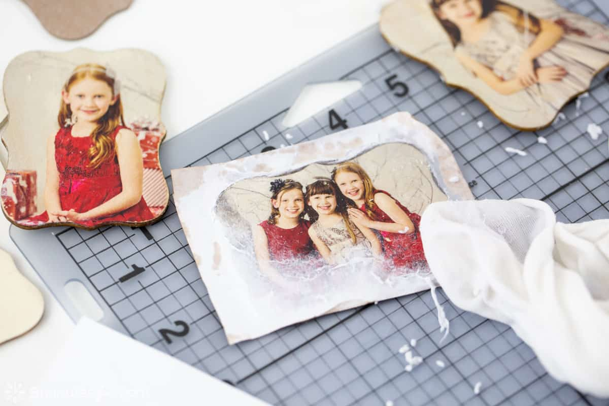 DIY Photo Transfer Ornaments