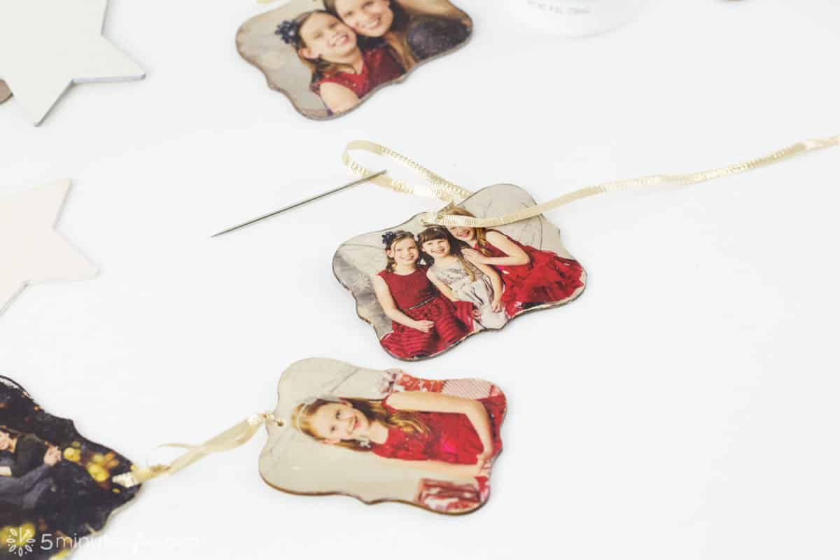 Photo Transfer Ornaments