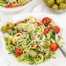 Zucchini Noodles with Olives