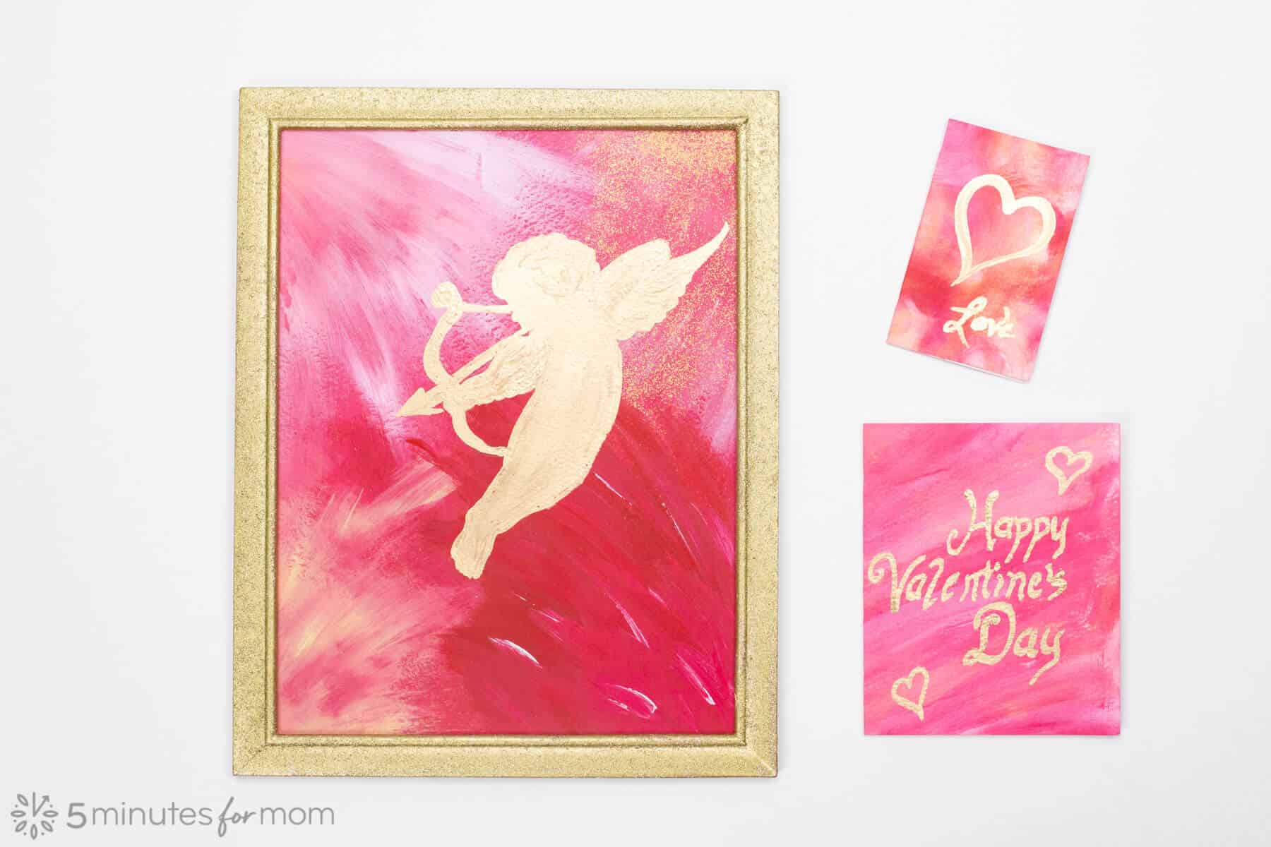 Easy Valentines Day Painted Cards and Gifts