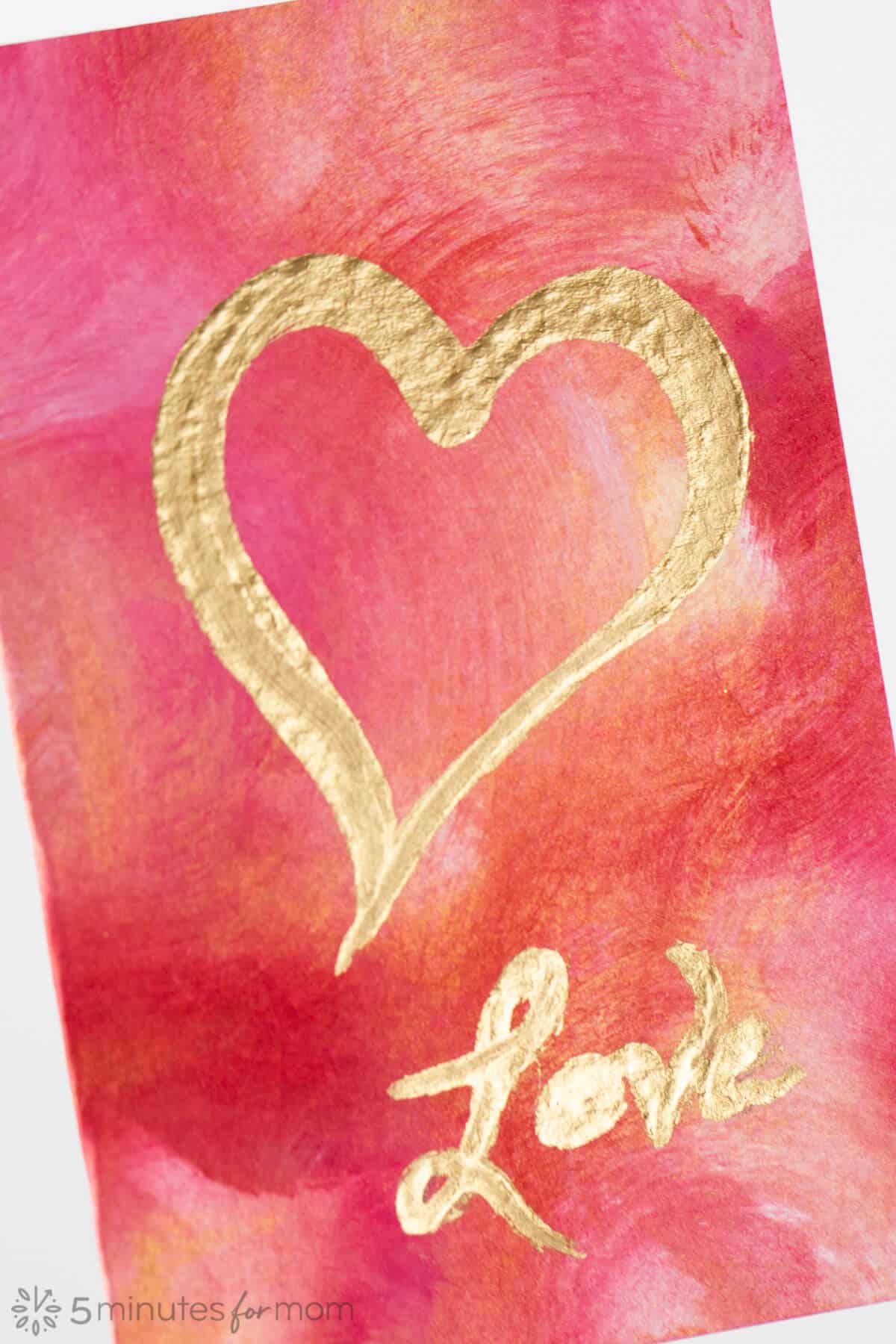 Heart Valentines Day Painting