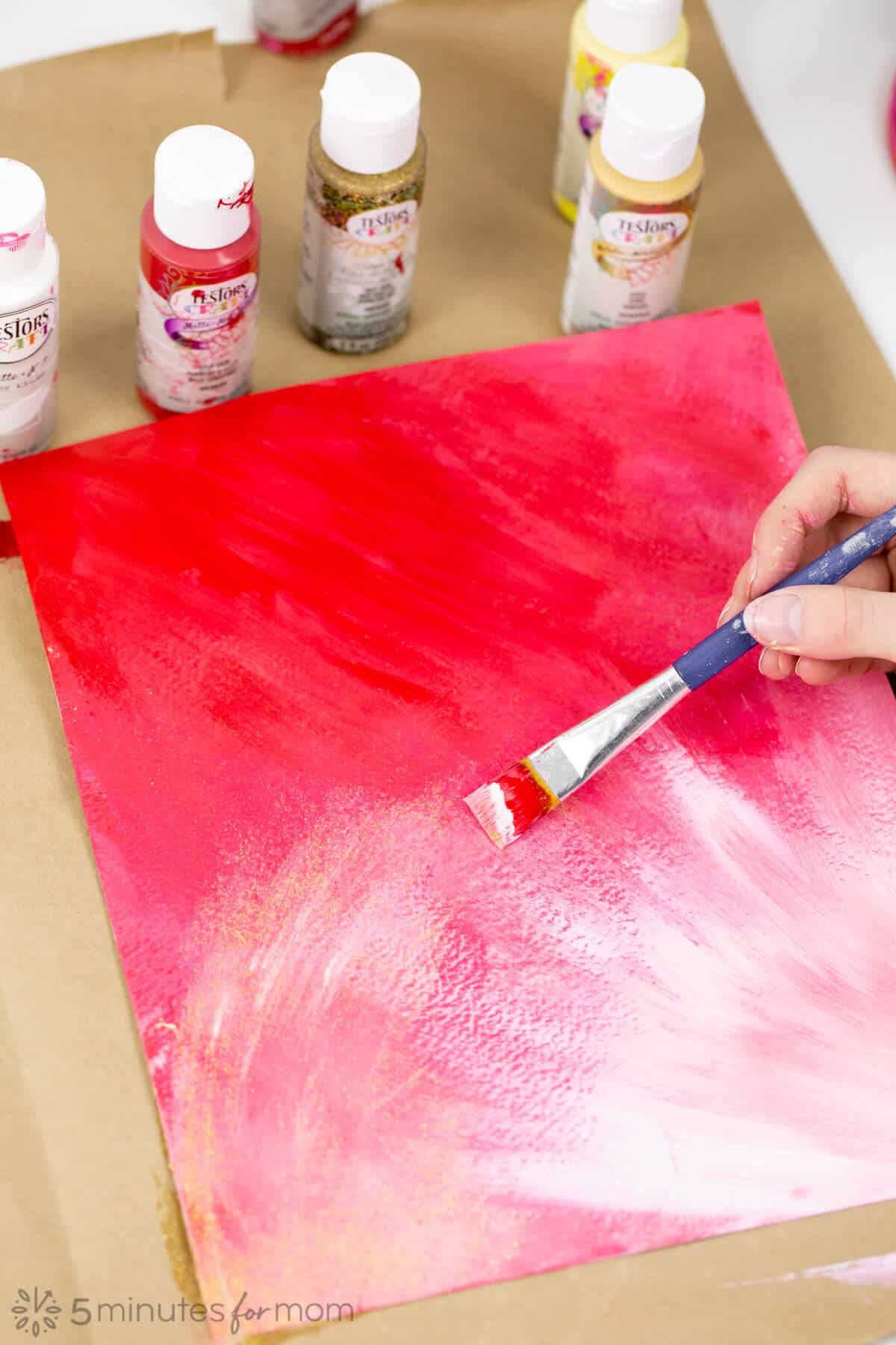 Valentine S Day Painting An Easy Art Project With Stunning Results 5 Minutes For Mom