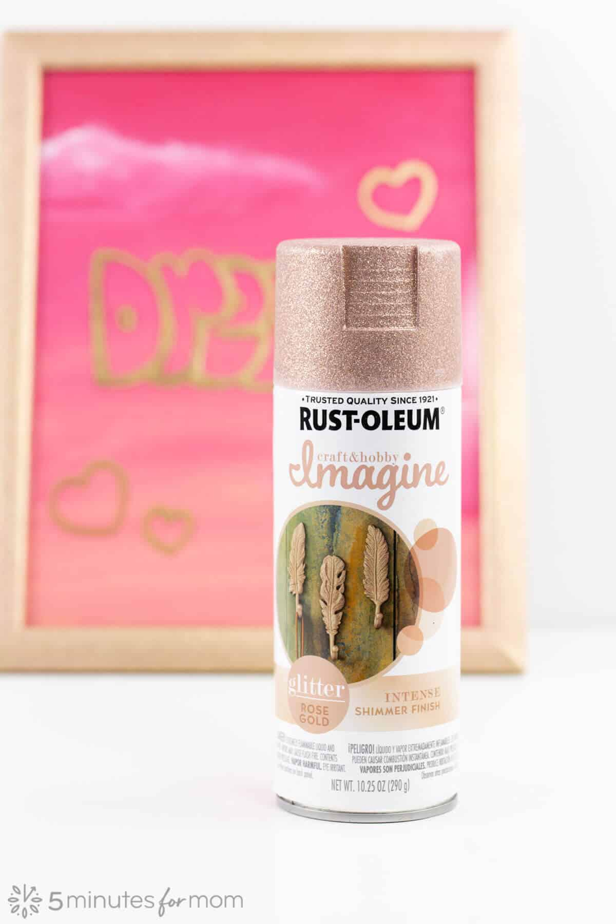 Rustoleum Glitter Rose Gold Spray Paint