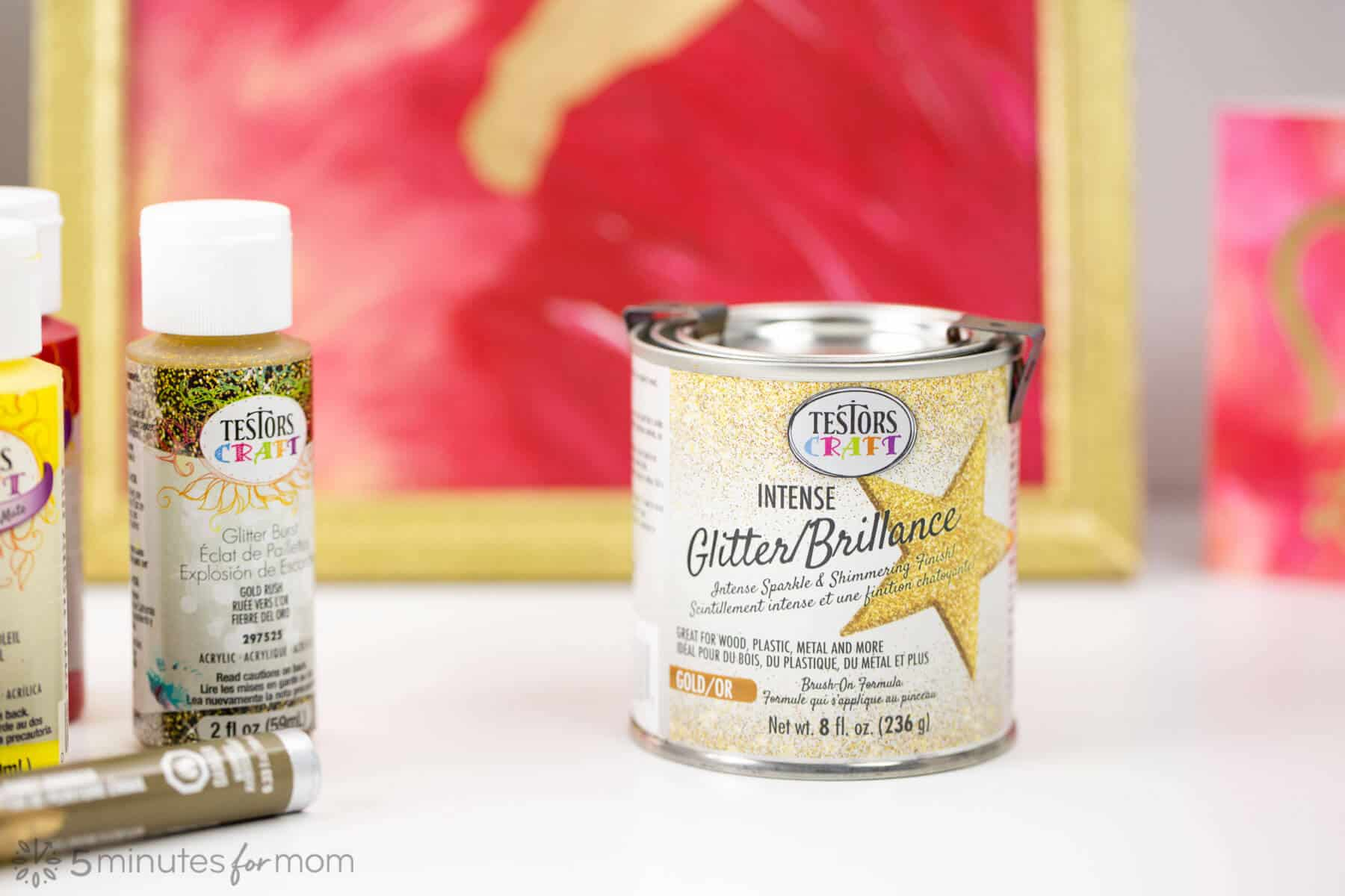 Testors Gold Glitter Paint