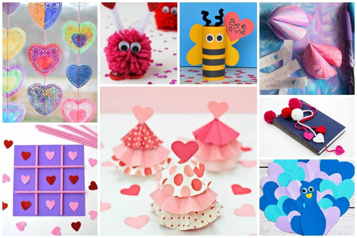 Valentines Day Crafts for Kids - Easy and Cute