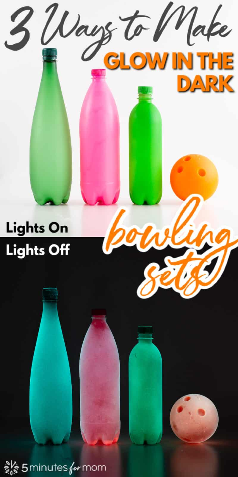3 Ways To Make DIY Glow in the Dark Bowling Sets