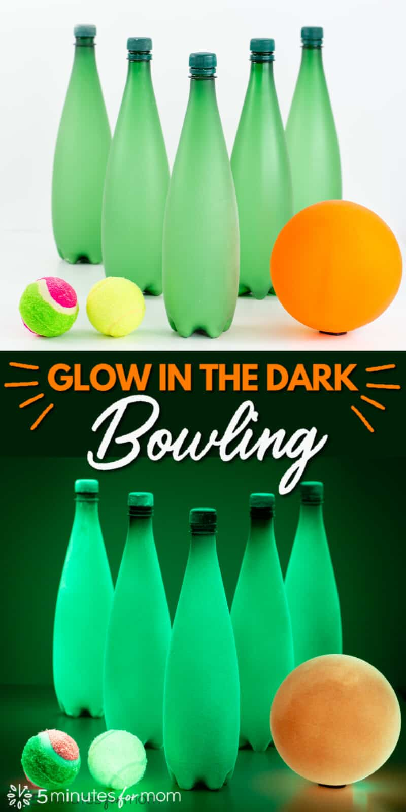 DIY Glow in the Dark Bowling