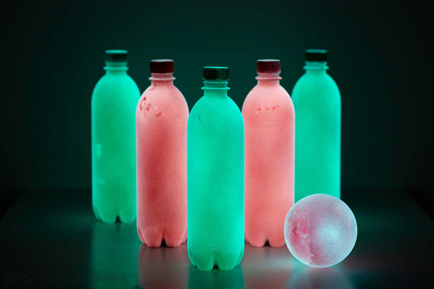 Glow in the Dark Bowling DIY
