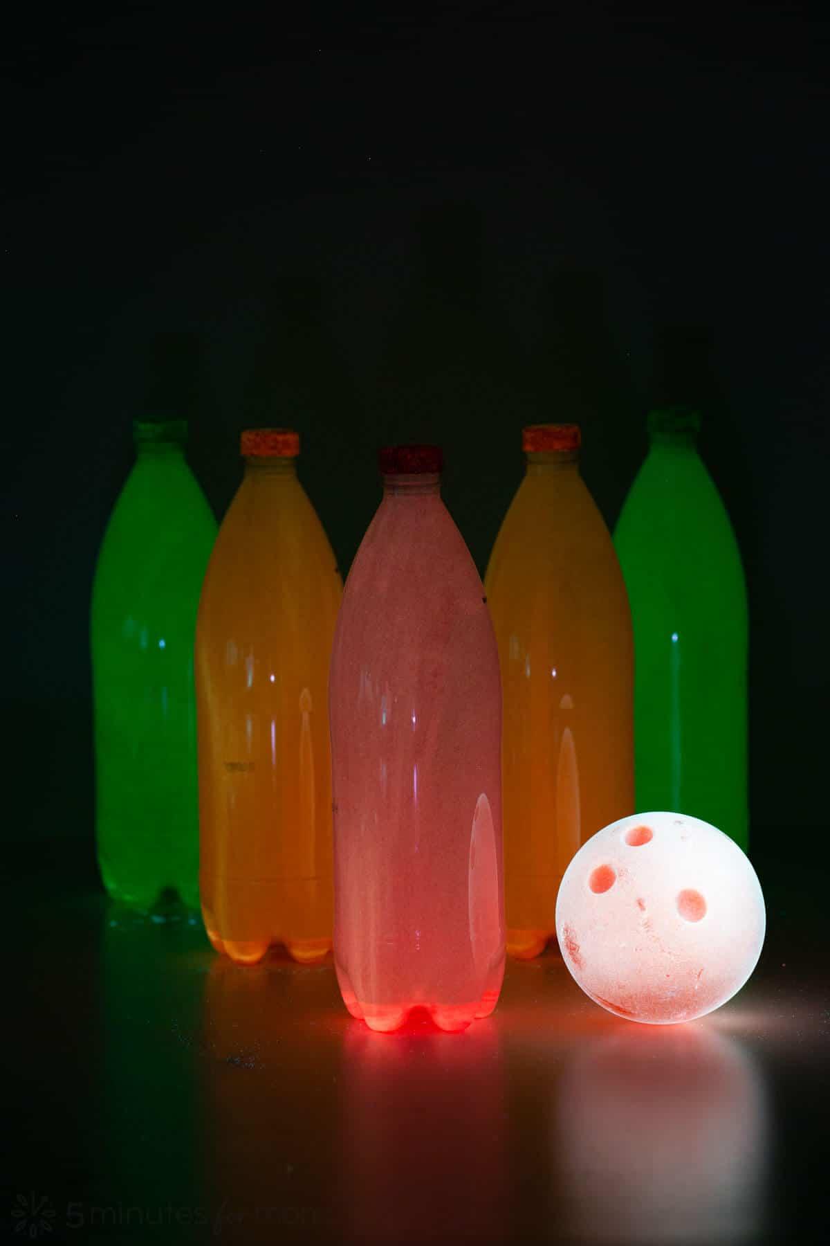 Neon Glow Bowling Pins