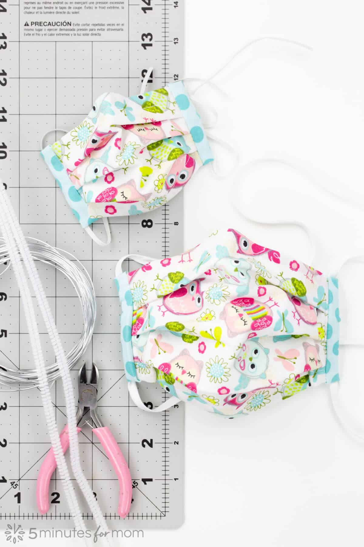 How to Make a DIY Face Mask - Use this face mask pattern and video tutorial to make cloth face masks for your family or to donate.