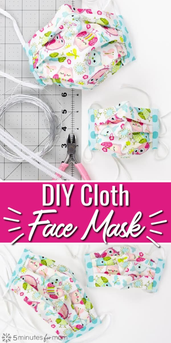 DIY Face Masks - Cloth Face Mask Pattern