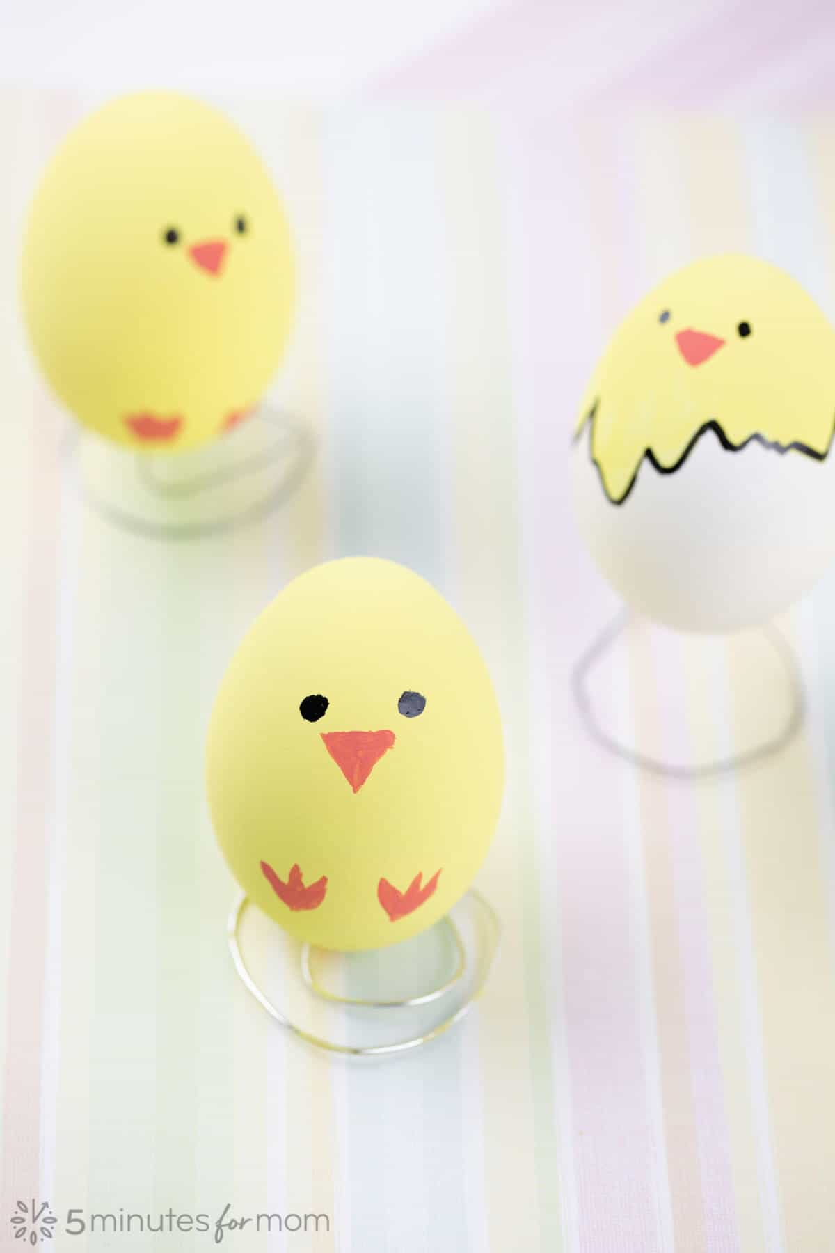 Painted Easter Egg Chicks