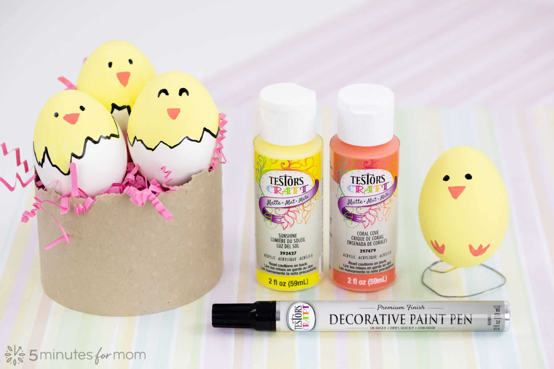 Painting Easter Egg Chicks
