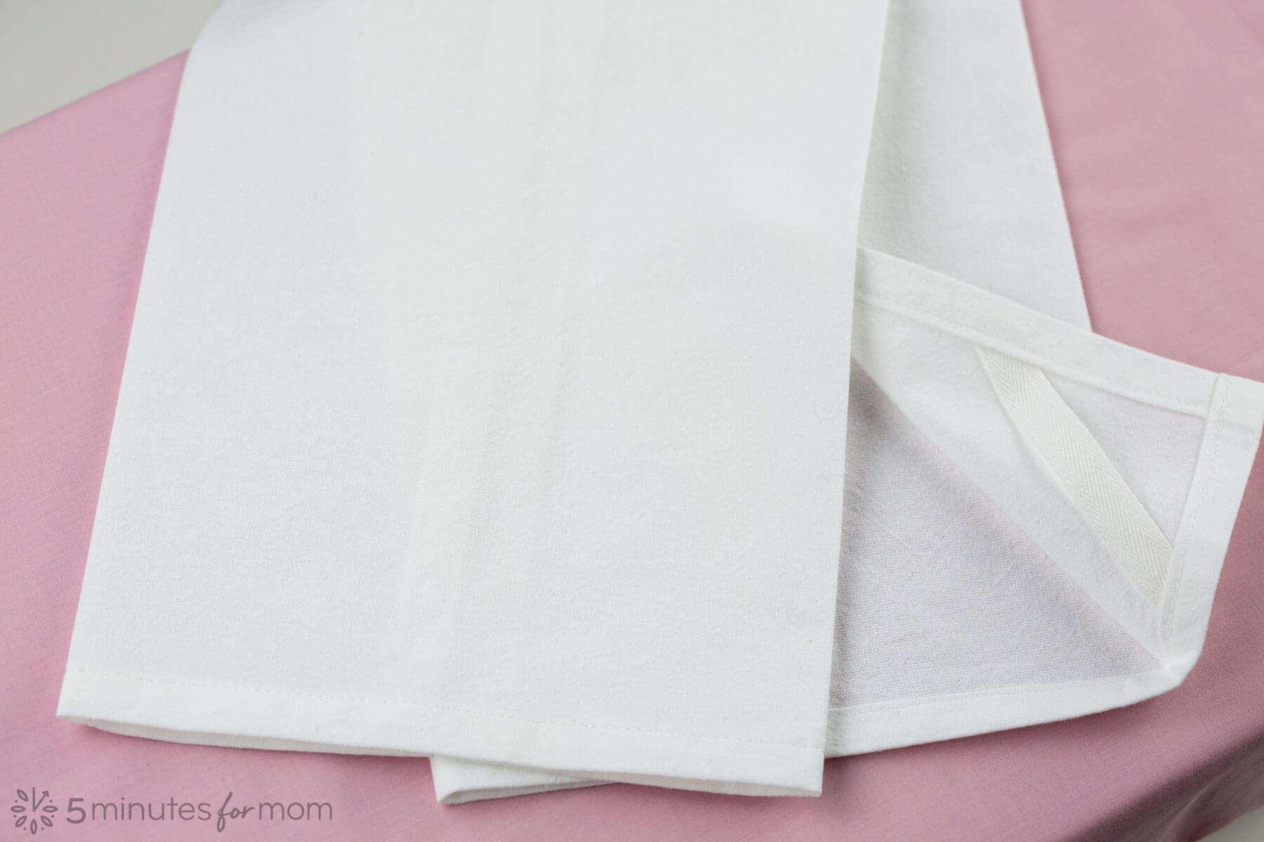 woven cotton tea towel
