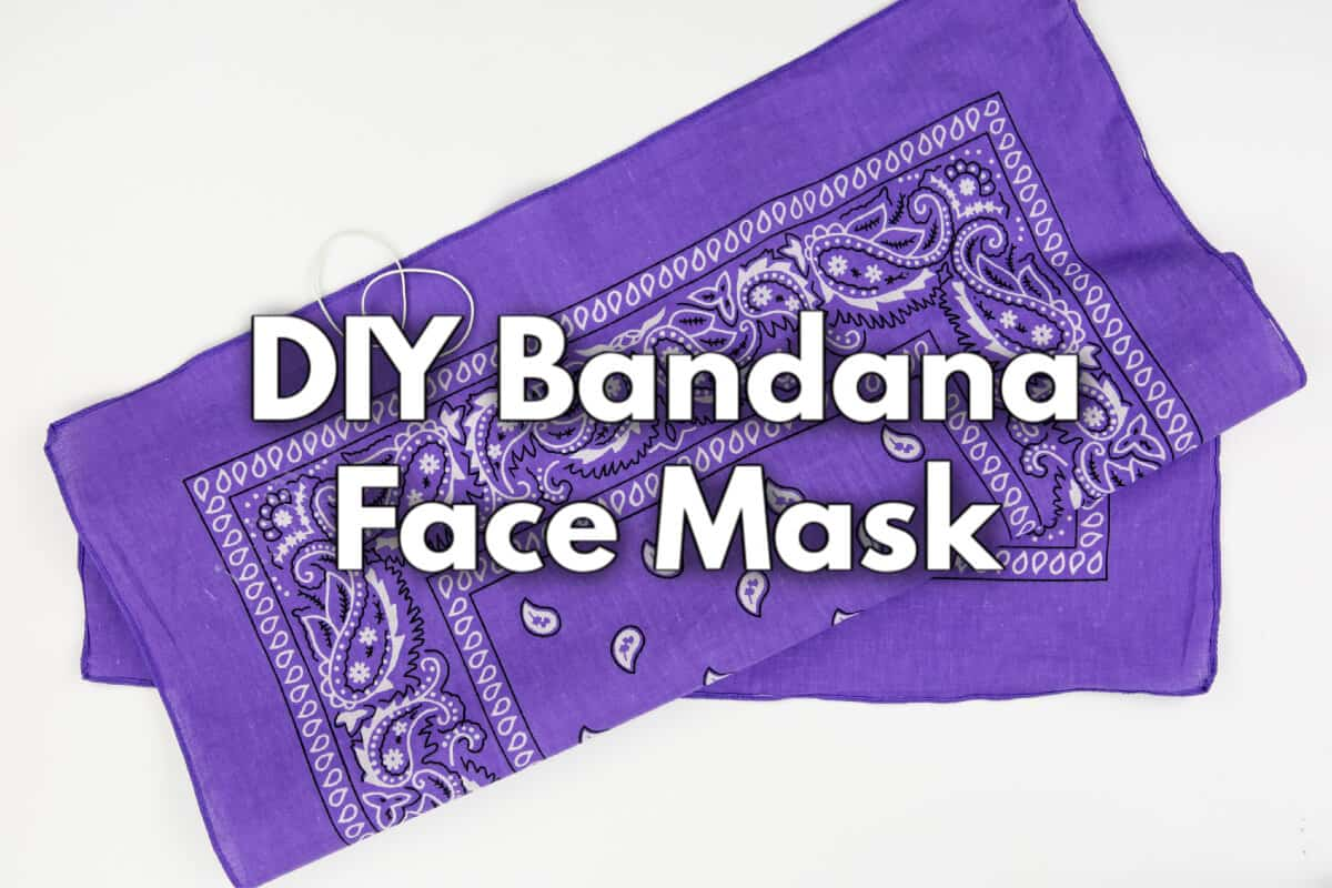 DIY Bandana Mask No-Sew Face Mask