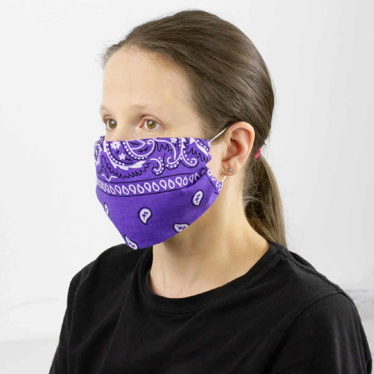 DIY Bandana No-Sew Face Covering