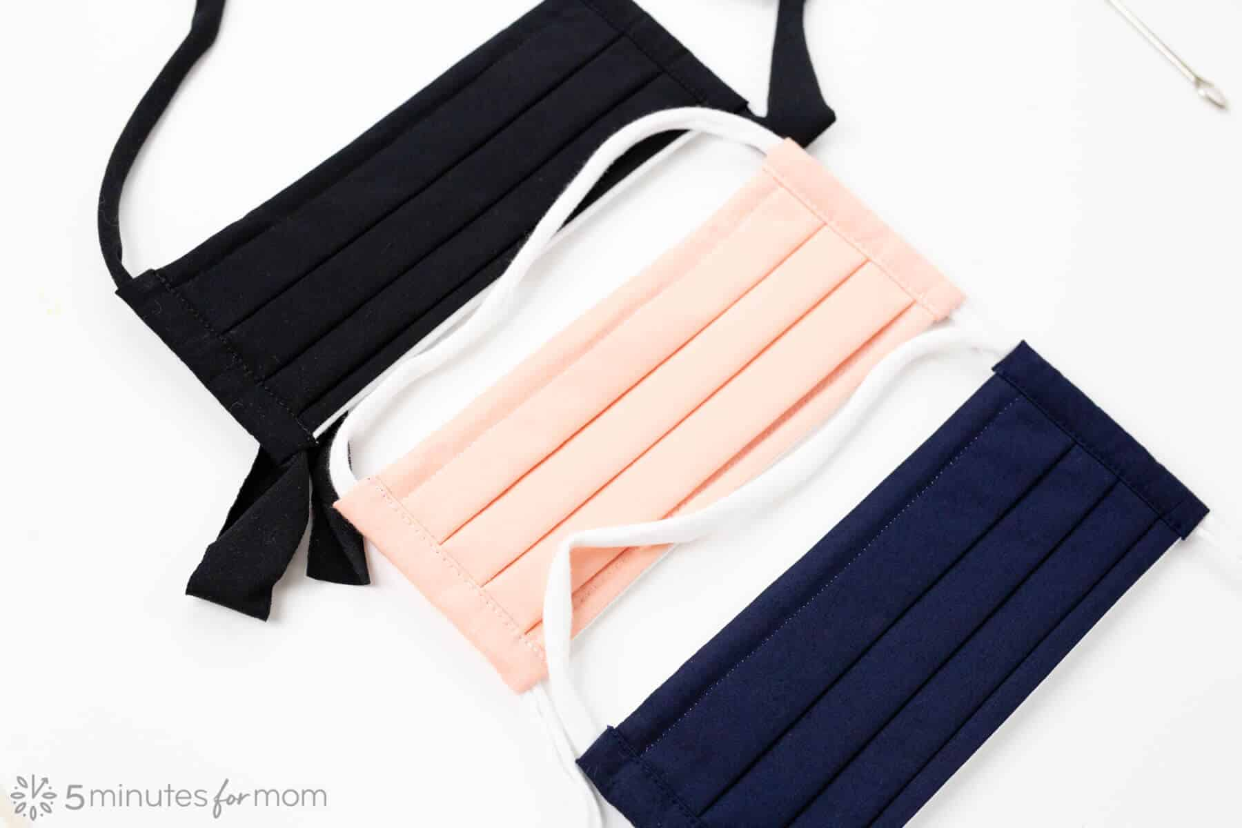 Easiest Face Mask Straps - Cloth face masks with fabric straps