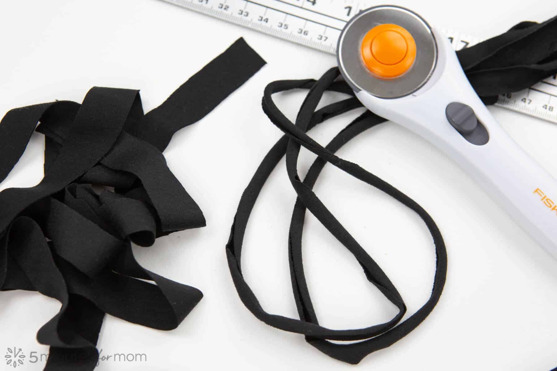 How to make stretchy ties for masks