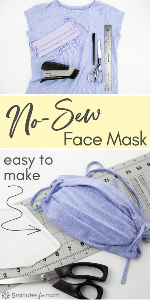No-Sew Face Mask - Easy To Make