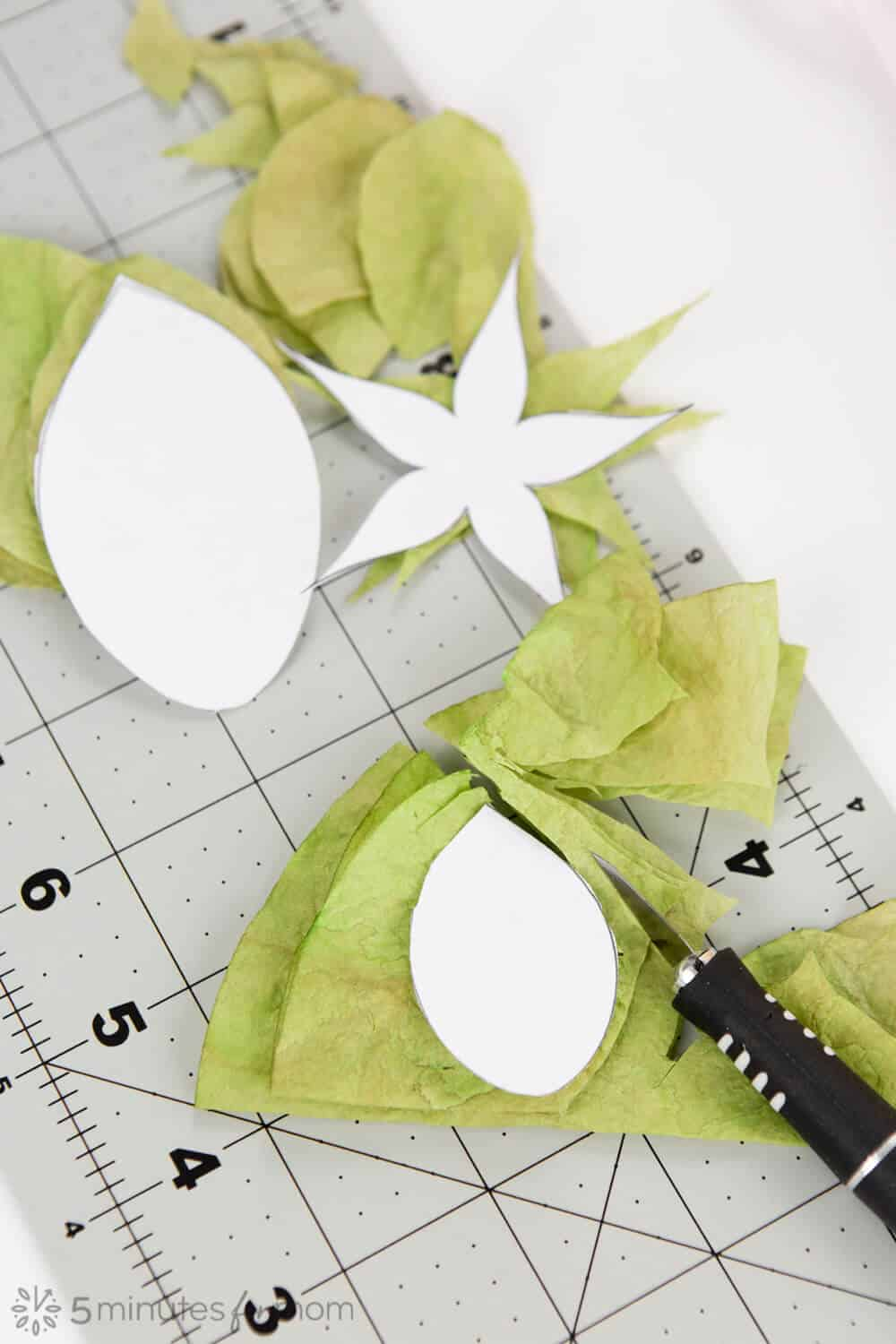 Free Template Rose Leaves and Sepal