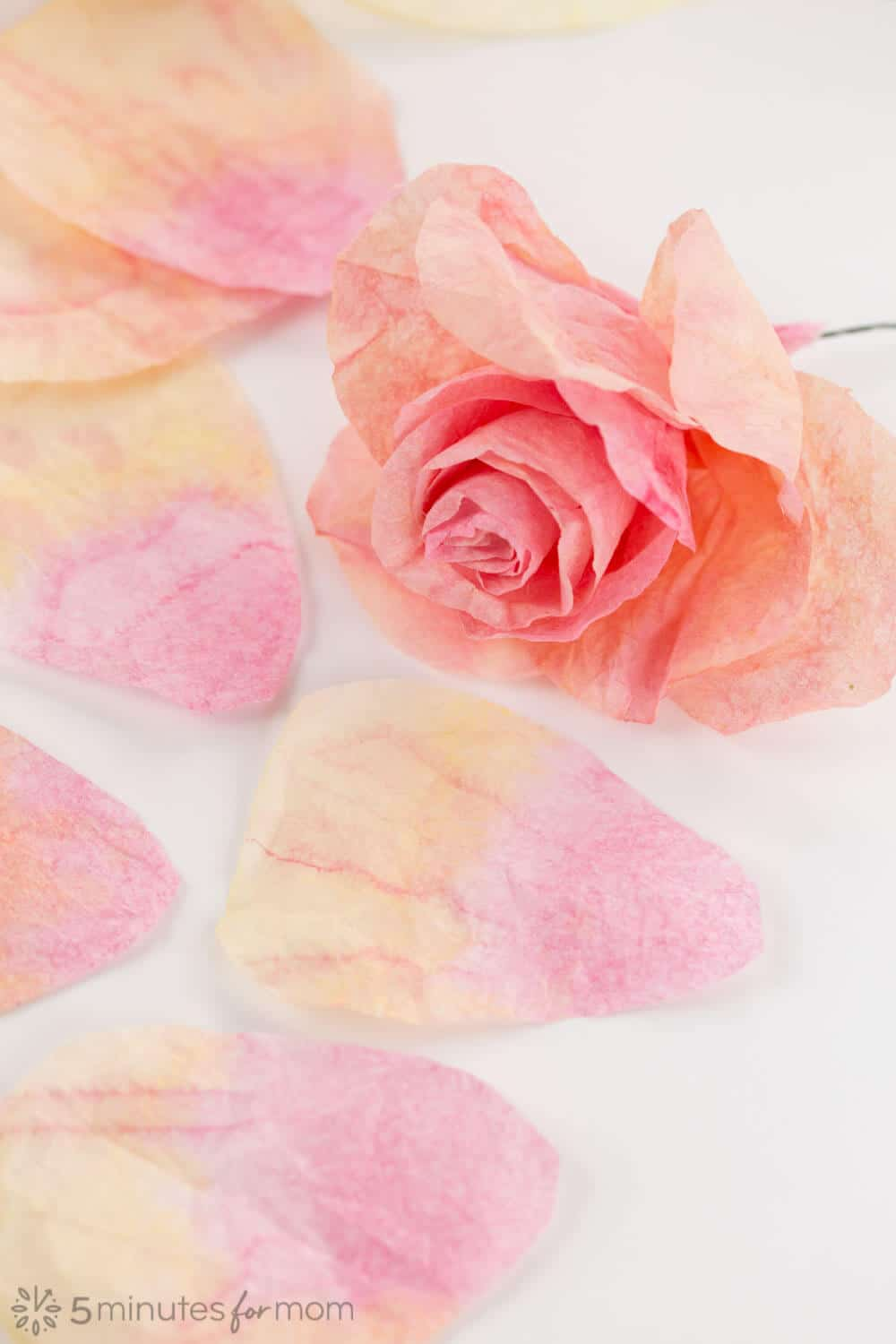 Coffee Filter Flowers with Free Templates
