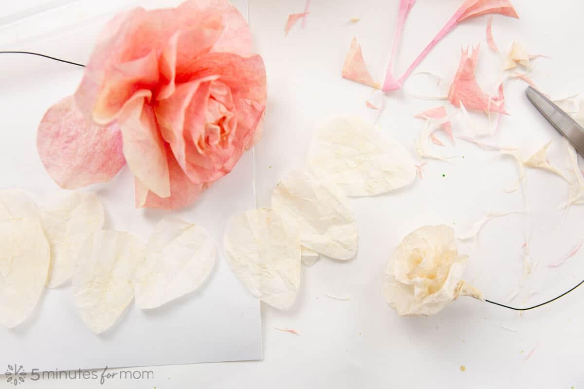 Free Coffee Flower Rose Template