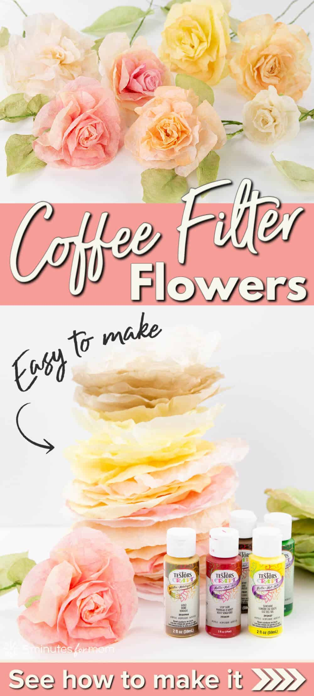 Coffee Filter Flowers - How To Make Flowers from Coffee Filters