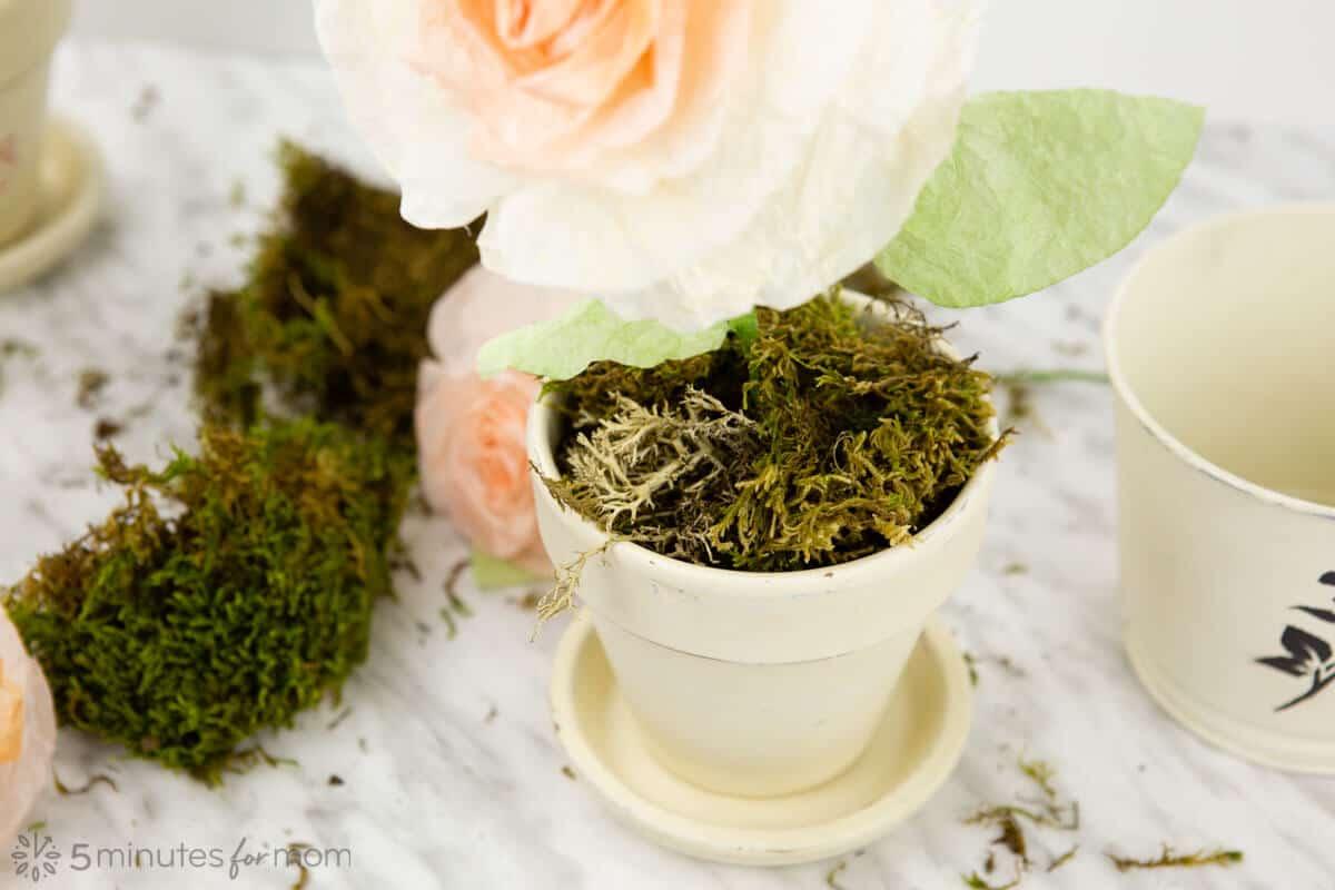 DIY artificial flower pots