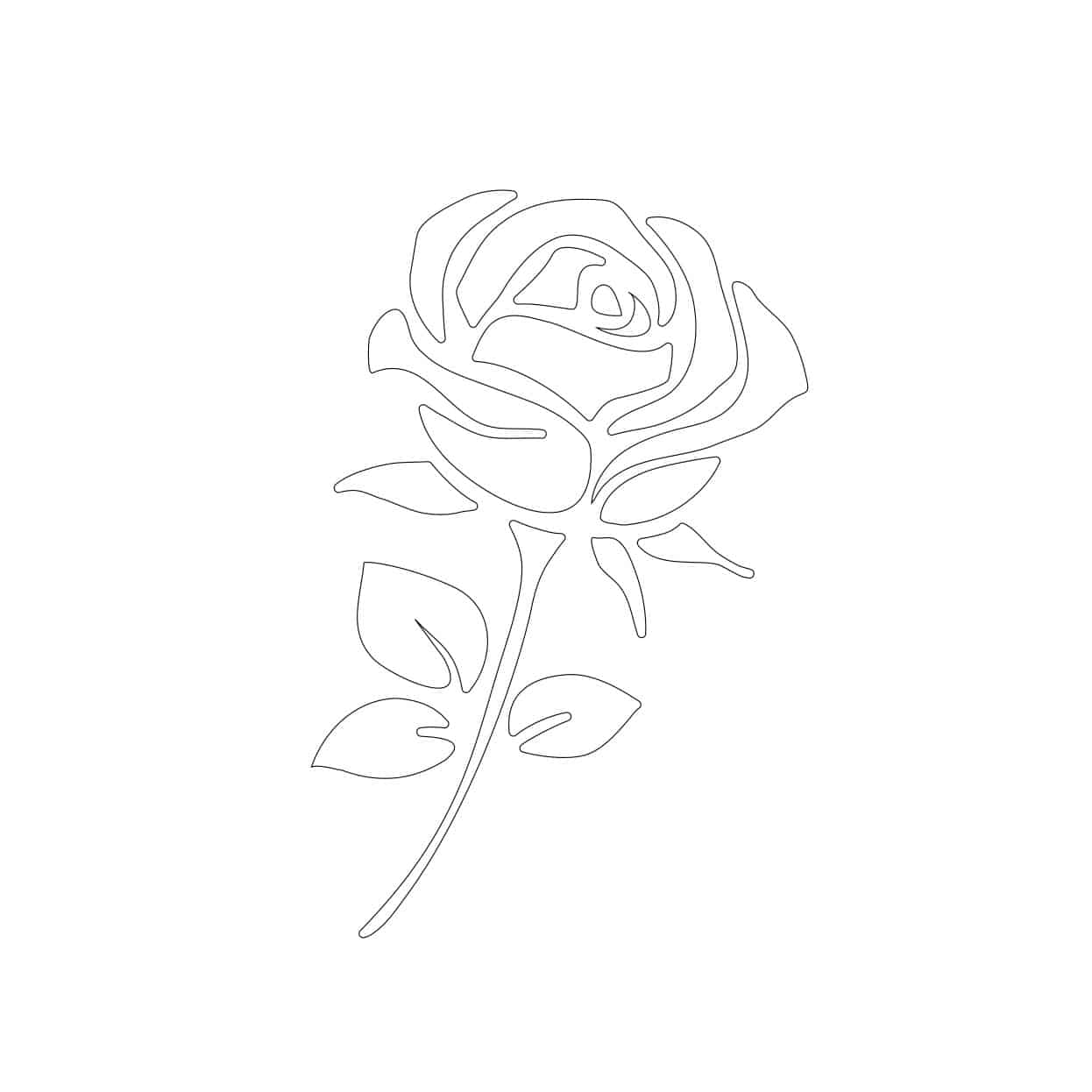 Free Rose Stencil Template
