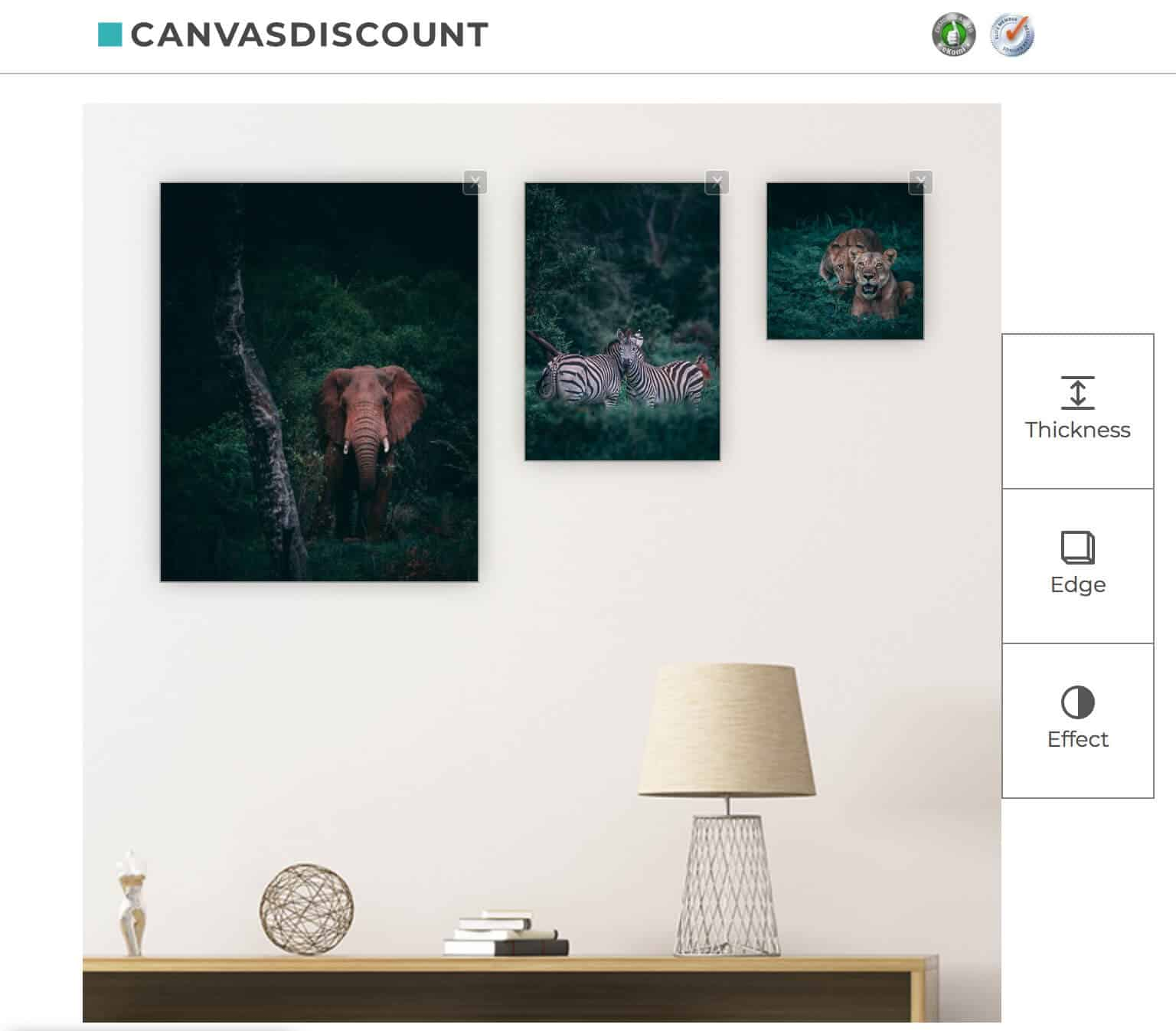 CanvasDiscount Canvas Prints with Photos from Unsplash