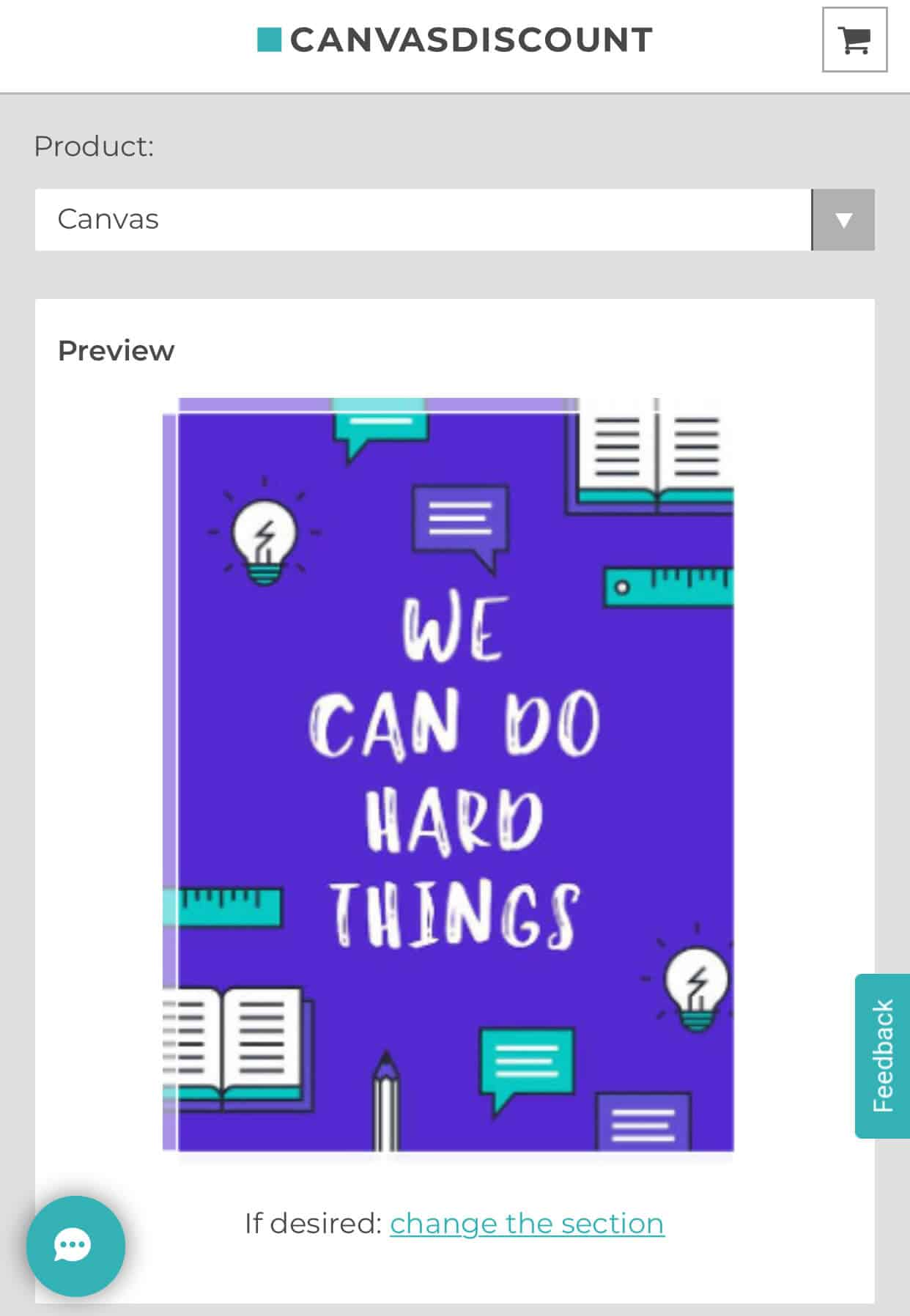 "Poster with the words ""We can do hard things"""