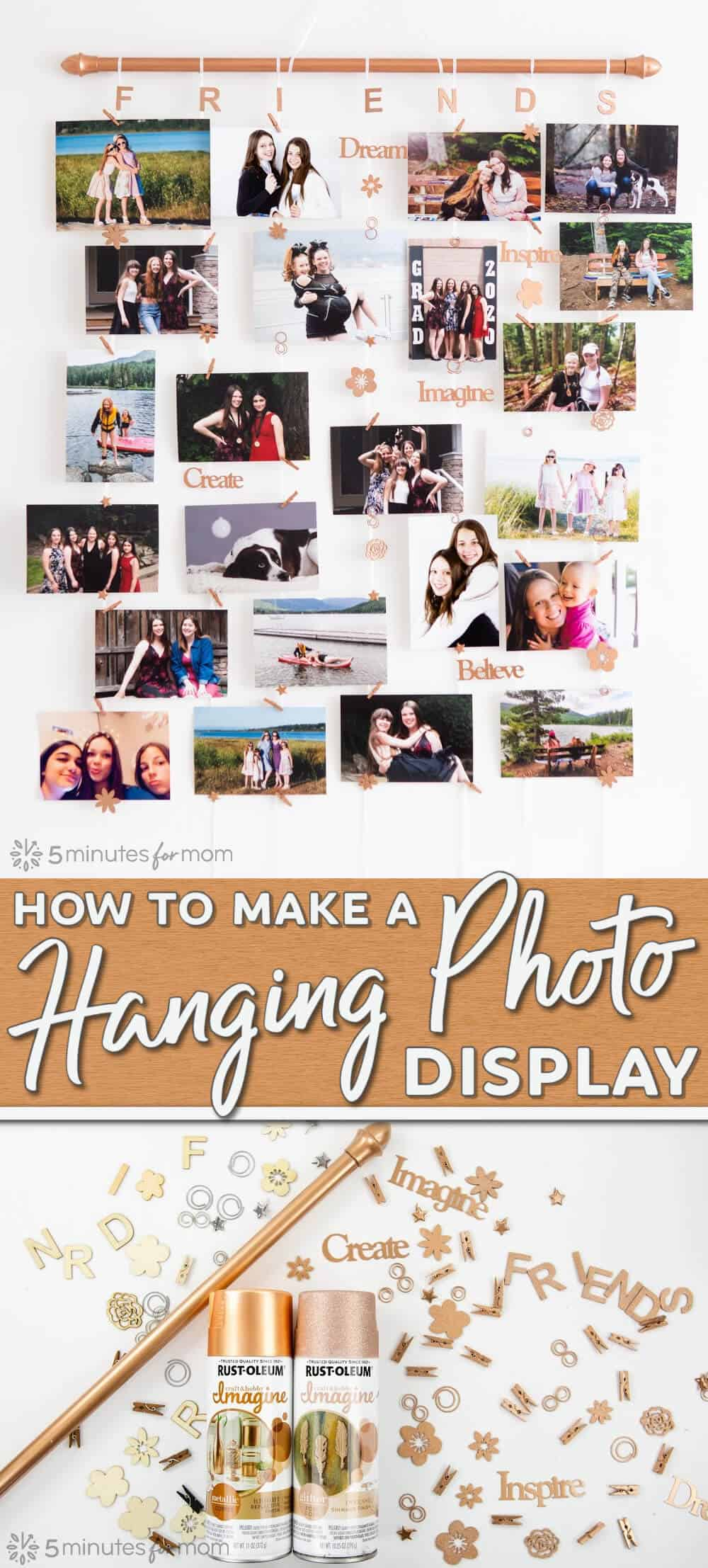 DIY Hanging Photo Display Tutorial