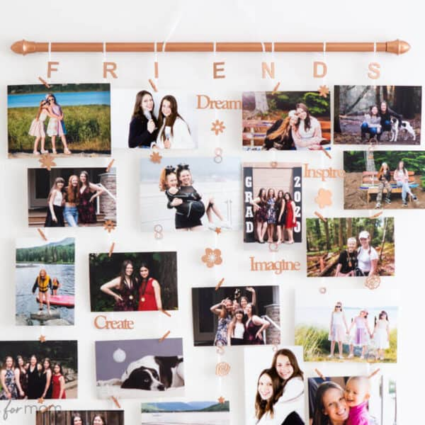 DIY Photo Display – How To Make A Hanging Photo Display