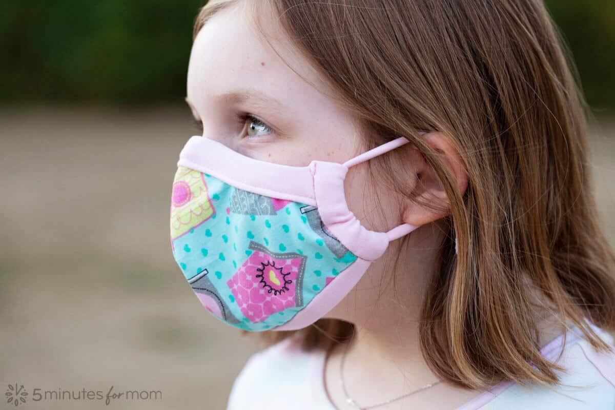 Comfortable Face Mask Pattern for Kids