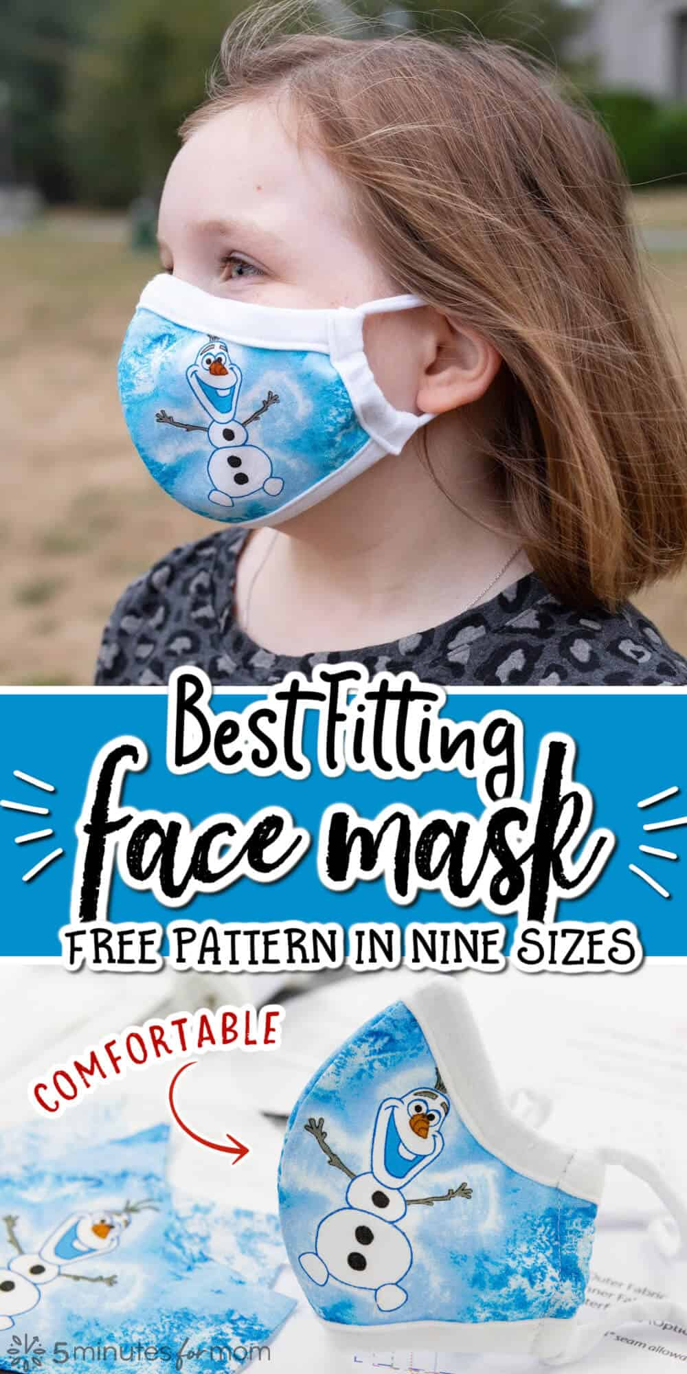 Best Fitting Face Mask Pattern in 9 Sizes
