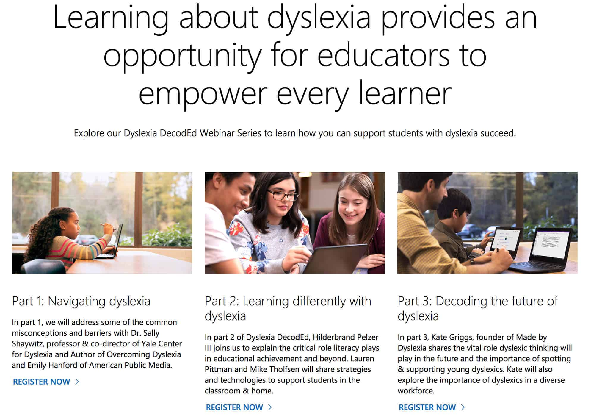 Dyslexia DecodEd series of webinars