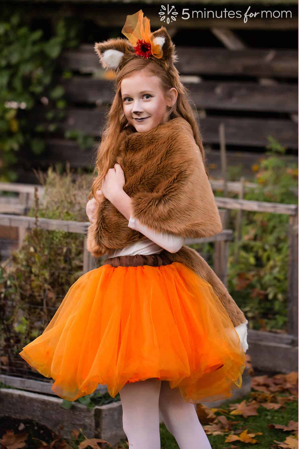 Faux fur capelet for fox costume